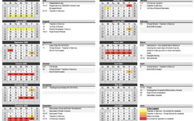2020 2021 School Year Calendar